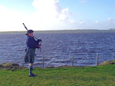 Graeme playing on North Uist